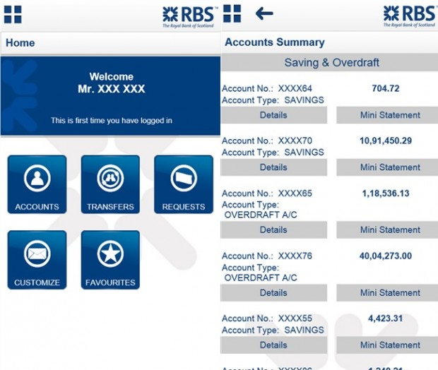 RBS Banking App Windows Phone