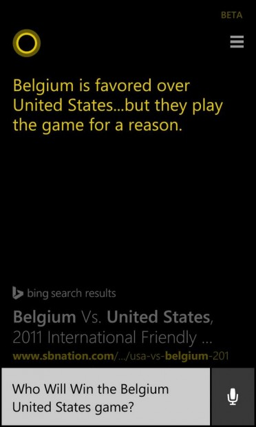 Bing Cortana US Football