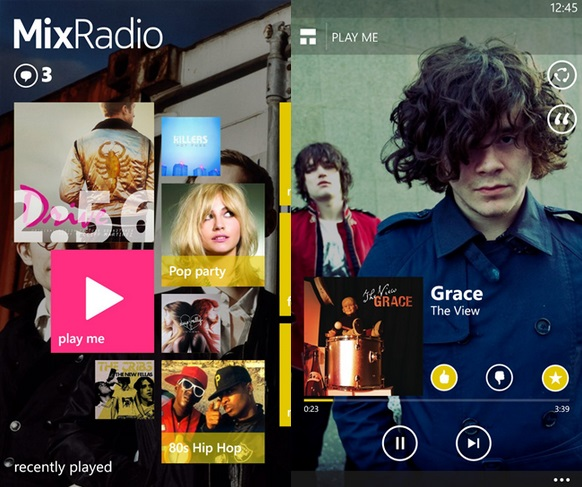 Microsoft MixRadio Windows Phone