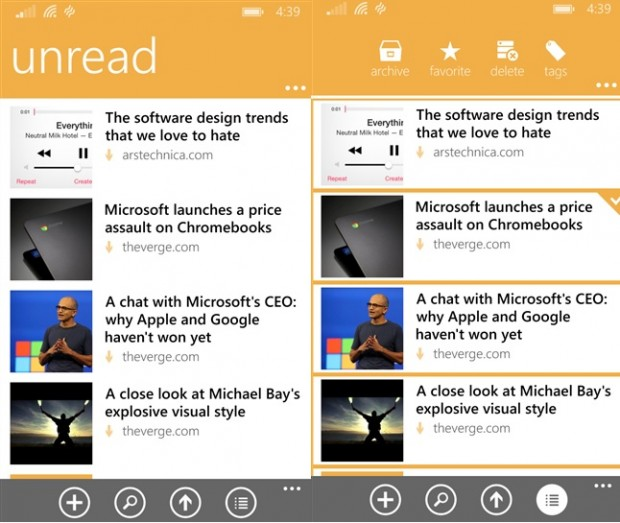 Pocket Windows Phone app