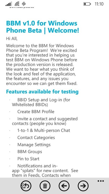bbm beta program