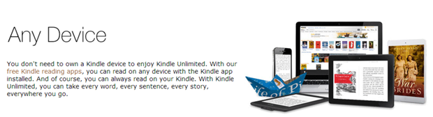 Amazon's new Kindle Unlimited subscription will also work on