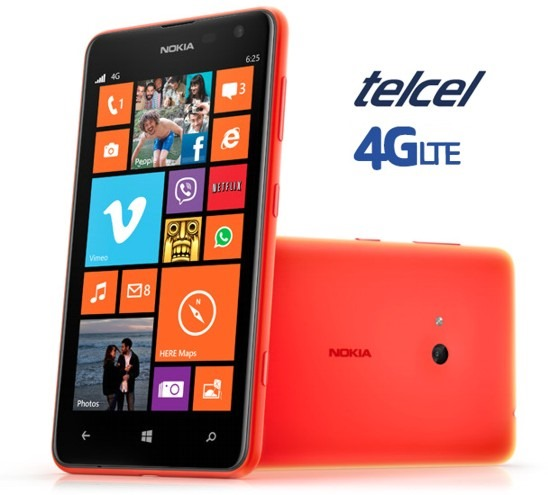 Telcel Nokia Lumia 625 now getting the WP8.1/Cyan update ...