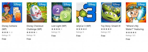 Disney Free Games Windows Phone Store