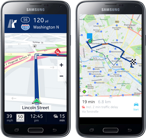HERE Maps Samsung Galaxy