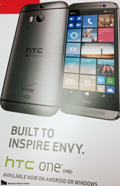 HTC One M8 Windows Phone Verizon
