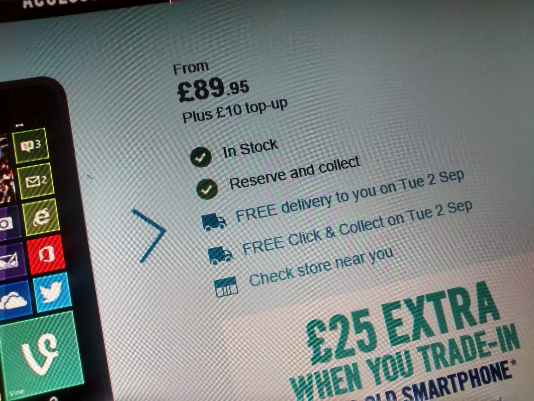 Carphone Warehouse now selling the Nokia Lumia 630 for £89.95