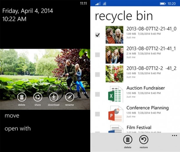 OneDrive Windows Phone update