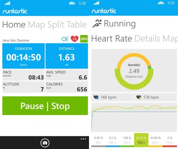 Runtastic Pro Windows Phone