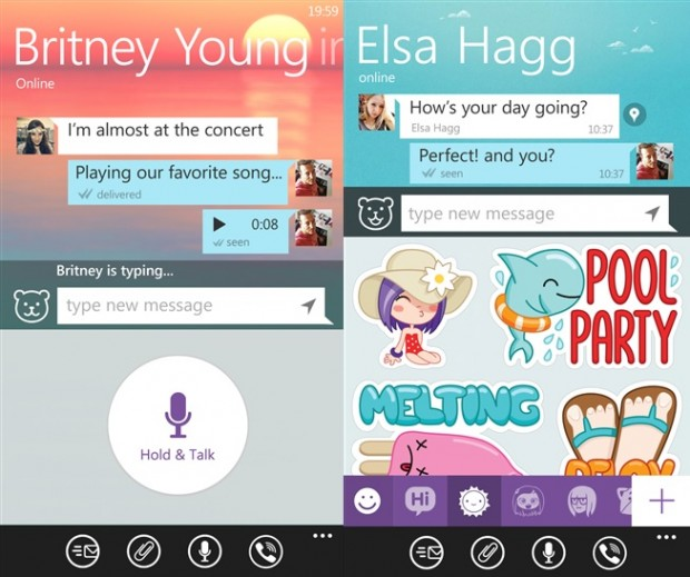 Viber Windows Phone app