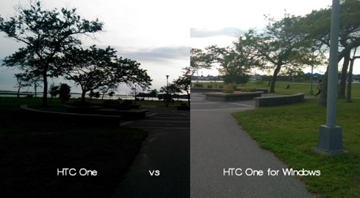 HTC One photos compared to the HTC One for Windows and Nokia Lumia 1020 4