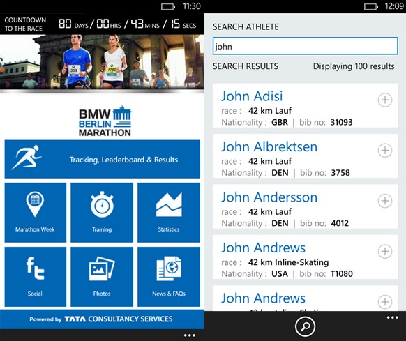 BMW Berlin Marathon App