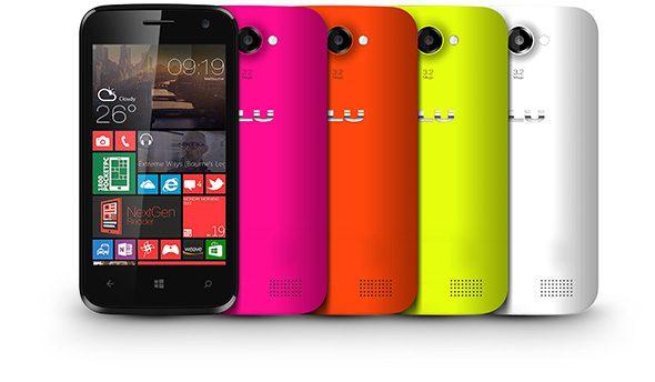 Blu Win JR Windows Phone colors
