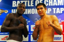 WorldSeriesBoxing 08092014 WEIGH IN CLASH OF TITANS ASTANA ARLANS KAZAKHSTAN vs CUBA DOMADORES