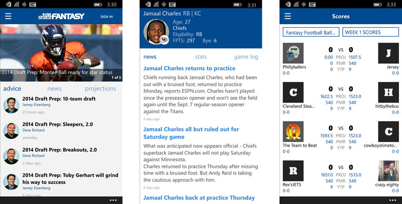 CBS Sports Fantasy arrives at the Windows Phone Store