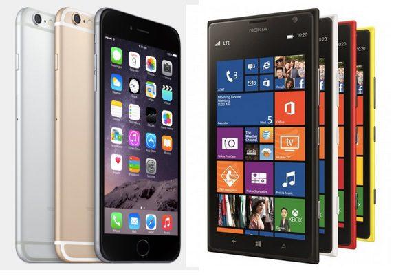 iPhone 6 Plus vs Nokia Lumia 1520