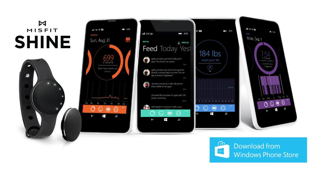Misfit updates it official app for Windows Phone