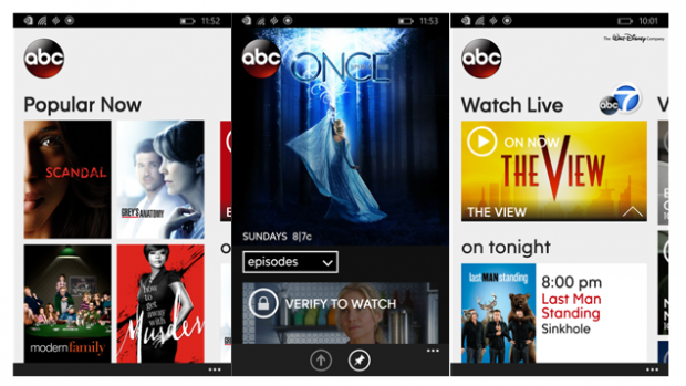 ABC Windows Phone app