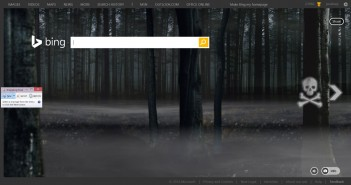 Bing Home Page Haloween
