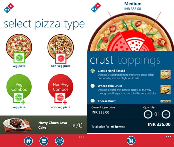 Dominos India Windows Phone
