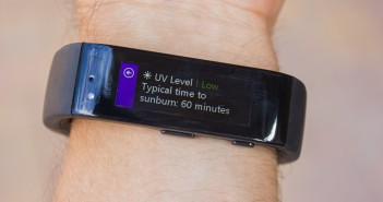 The UV indicator tells you how long it would take till sunburn, pretty neat.