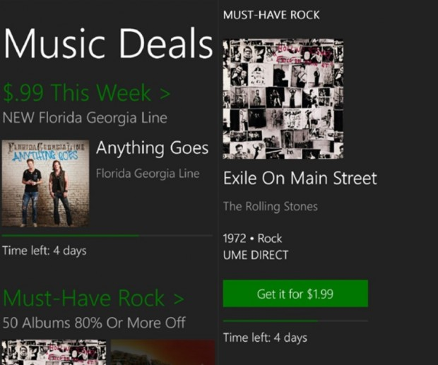 Music Deals Windows Phone app