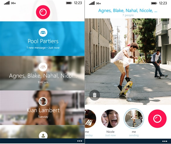 Skype Qik Windows Phone