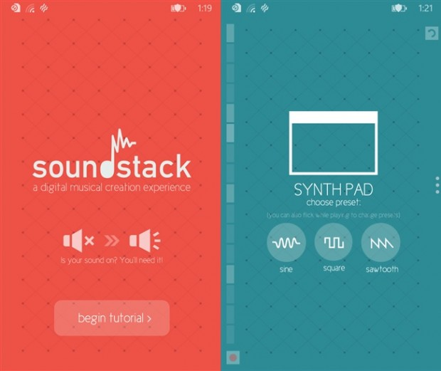 Sound Stack Windows Phone app