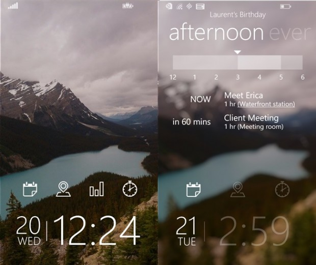 Tetra Lockscreen Windows Phone