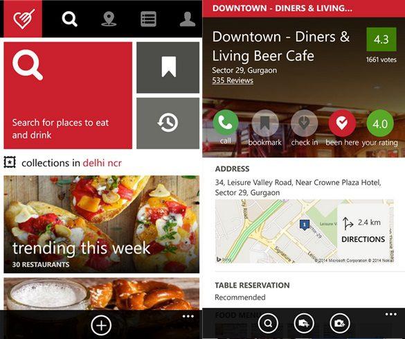 Zomato App Updated In Windows Phone Store With Cortana