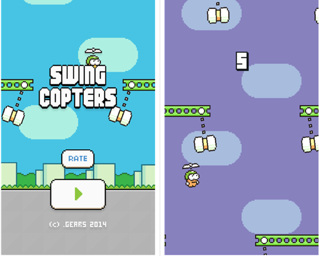 Official Swing Copters game in the Windows Phone Store? 2