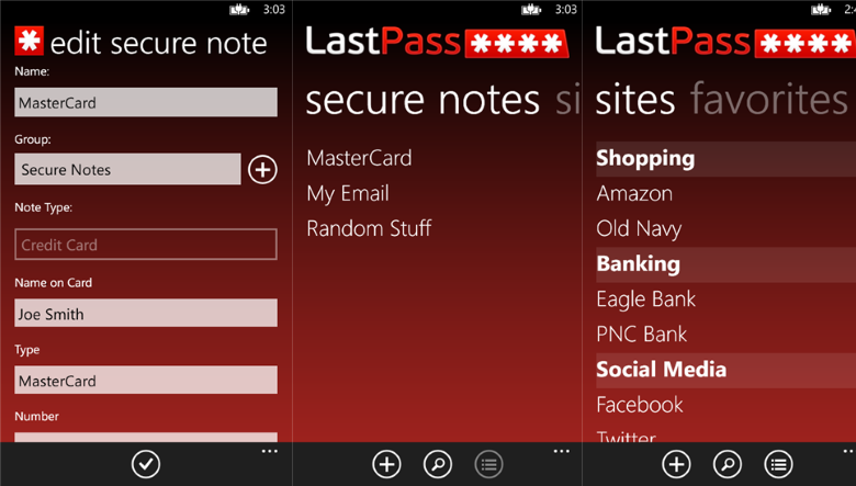 LastPass for Windows Phone gets updated with multifactor