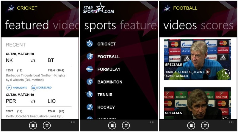 Star Sports for Windows Phone now available