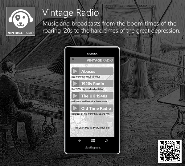 Vintage Radio - Music and broadcasts from the boom times of the roaring '20s to the hard times of the great depression. 1