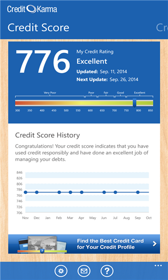 Credit Karma Windows Phone
