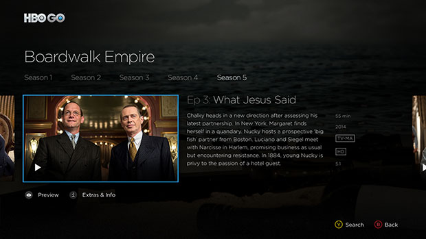 HBO Go Windows Store