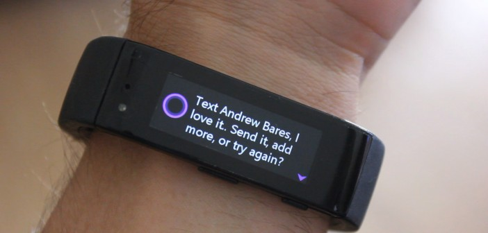Cortana asks if you would like to send the text message
