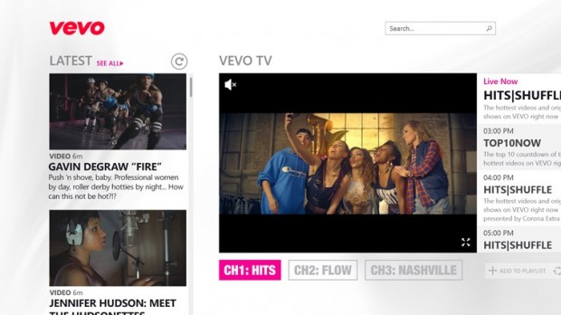 Vevo Windows Store