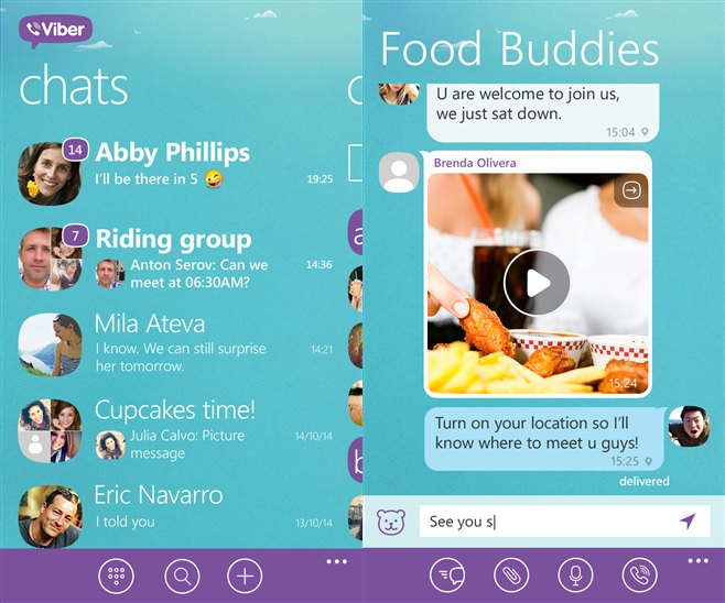 Viber For Windows Phone Updated In Windows Phone Store 1