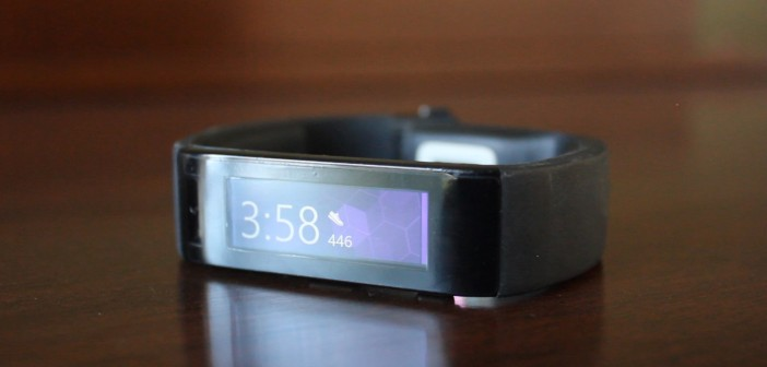 The home screen of the Microsoft Band