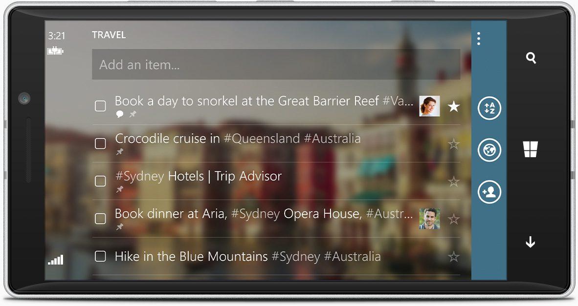 Wunderlist Windows Phone