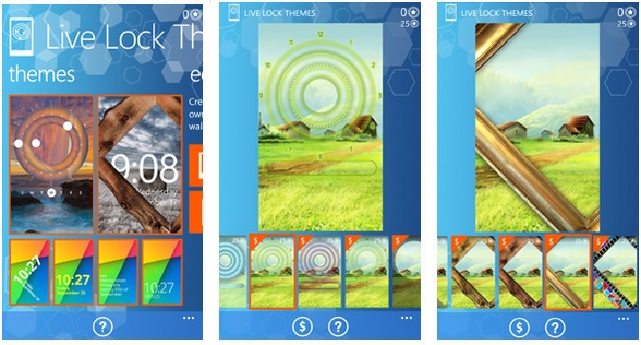 Live Lock Themes now with wallpaper editor 13