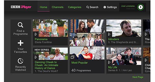 BBC iPlayer Xbox One