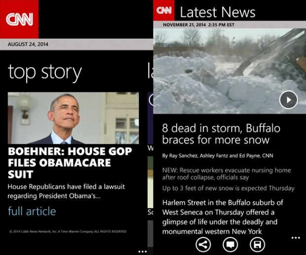 CNN Windows Phone app1