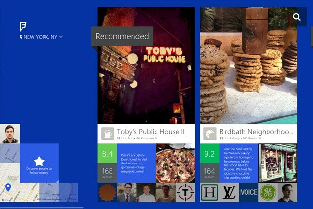 Foursquare Windows Store