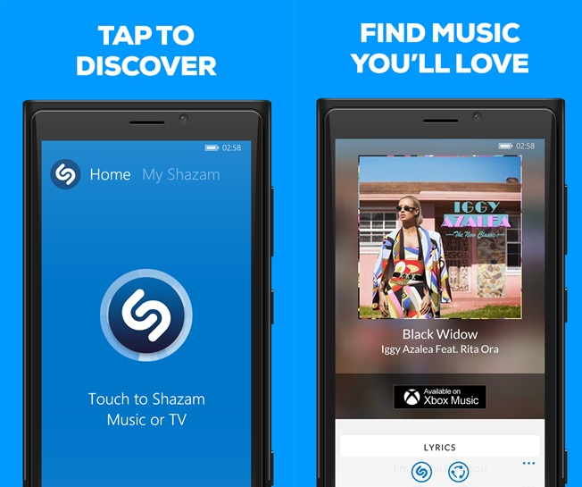 Shazam Windows Phone