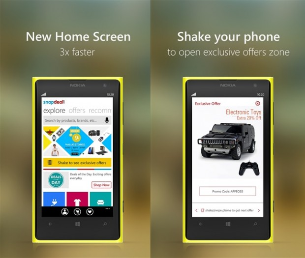 Snapdeal Windows Phone app