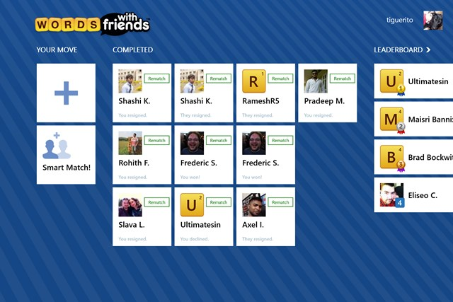 Words With Friends Windows Store