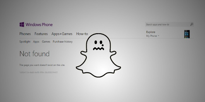 FYI: Third-party Snapchat clients are no longer available on the Windows Phone Store