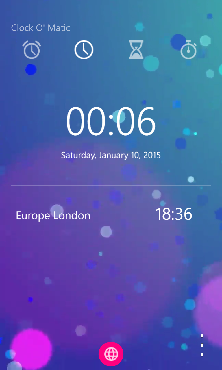 Clock O' Matic gets New LIVE Backgrounds and Features Update 18